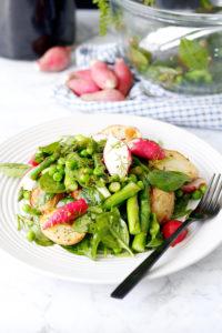 Spring Salad with Honey Mustard Vinaigrette