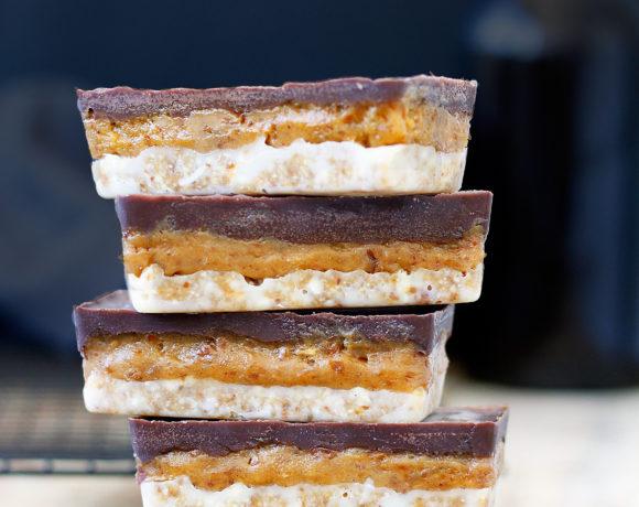 Raw Miso Caramel Slice